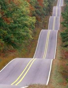 """A real-life, rare """"Roller Coaster"""" road!  A fun or a scary drive? What do you think people?"""