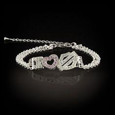 Stamper Women's Sterling Silver Double Chain Bracelet. BCR0007