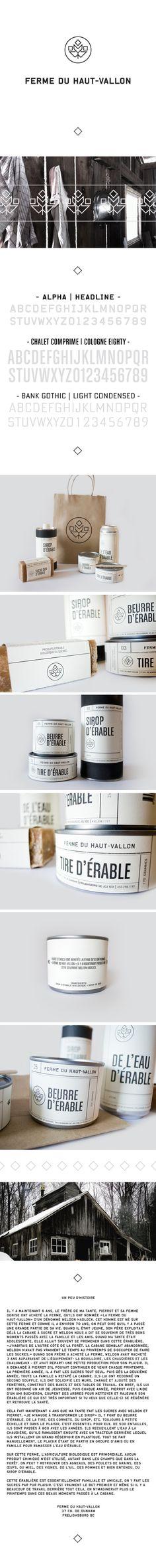 Ferme du Haut-Vallon by Eliane Cadieux, via Behance Time for a bath #identity #packaging #branding PD
