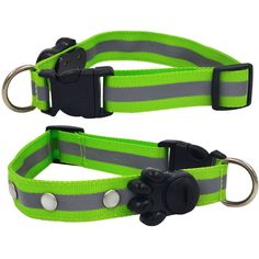 STAR-TOP Adjustable Nylon cat LED Dog Collar[Night Safety][Replace Battery]LED Light-up Flashing Glow in the Dark Lighted Collars for Small Dogs(Middle Pink Green Blue) *** Special cat product just for you. See it now! : Cat Collar, Harness and Leash