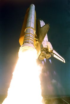 October 7, 2002: Space Shuttle Atlantis launches on STS-112, an International Space Station assembly mission. (NASA photo)