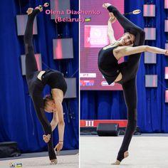 Olena DIACHENKO (Ukraine) ~ Clubs training @ World Challenge Cup Minsk 04/08/'17  Photo by Kate Ianiuk.