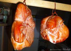 Szynka wieprzowa, wędzona w garnku. Smoking Meat, Sausage, Turkey, Cheese, Homemade, Dinner, Food, Polish Food Recipes, Dining