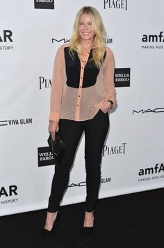 Chelsea Handler. Can't beat a sexy, menswear-inspired look.