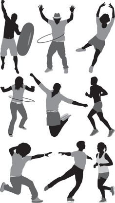 People involved in different sports. Photomontage, Architecture Concept Diagram, Cut Out People, Human Poses, Different Sports, Photoshop, Figure Reference, Fantasy Character Design, Silhouette