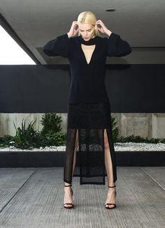 Black V-Neck Top | Jovana Markovic | NOT JUST A LABEL