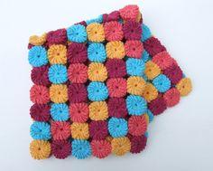 baby blanket crochet yoyos