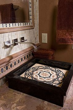 I love mosaic.  What a great way to incorporate into a home