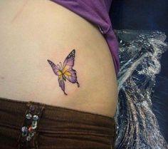Small Purple Butterfly Tattoo | Tattoos | Pinterest