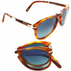 c02f2c9d72631 Persol Steve McQueen Sunglasses PO 714SM 96 S3 52mm Light Havana Polarized  Blue