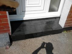 Image result for tiled front door step Door Steps, Cottage, House, Fronts, Country Cottage, Front Door, Front Door Steps, Doors, Victorian