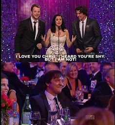 Chris Lilley & Katy Perry Chris Lilley, Man Humor, Katy Perry, True Beauty, Nerdy, Me Quotes, Movie Tv, Love You, Lol