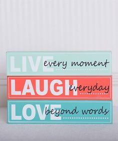 'Live, Laugh, Love' Brick Décor Set