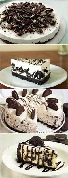 CHEESECAKE DE OREO, SABOR GOSTOSO!!! VEJA AQUI>>>Triture as bolachas com a ajuda de um liquidificador e separe 1/2 xícara da bolacha para usar posteriormente #receita#bolo#torta#doce#sobremesa#aniversario#pudim#mousse#pave#Cheesecake#chocolate#confeitaria