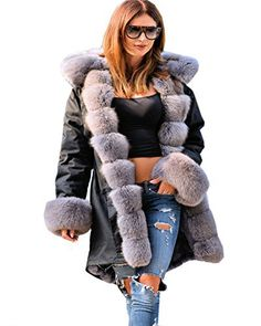 Product review for Roiii Women's Winter Coat Jacket Fur Lined Warm Long Trench Hooded Parka Outwear.  - Grey Faux Fur Lined jacket, Grey Faux Mink Fur Collar ,Military Jacket,Also The Sleeve Was Fur lined, Long Trench coat , Closed By Button, With Two Pockets on side, The Fur can not remove. Suit For Winter,Autumn, Snow Rain Weather, Outside Outdoor Warm Outearwear,Casual Jacket  This is our size...