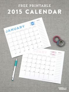 Calendar and Meal Planner Printables - Vertical