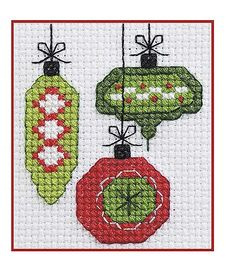 Celebrate the holidays with miniature stitchery designs that are quick to make for decorations and gifts. The fun collection in 50 Cross Stitch Quickies for Christmas from Leisure Arts presents a big variety of themes, from Santas and snowmen to angels an Cross Stitch Christmas Stockings, Xmas Cross Stitch, Cross Stitch Needles, Cross Stitch Kits, Christmas Cross, Cross Stitch Designs, Cross Stitching, Cross Stitch Patterns, Christmas Ornaments