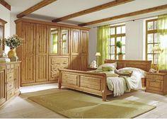 Schlafzimmer Malta 5 - Kiefer massiv - Wunderschönes Schlafzimmer im Bernstein Farbton