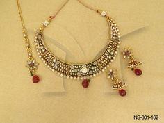NS-801-162 || Spectacular Of Moon Designer Antique Necklaces