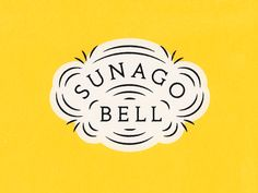 Logo Discover Sunago Bell Logo Rejected logo concept for an upscale event space. Typography Logo, Logo Branding, Typography Design, Lettering, Logo Inspiration, Badges, Bell Logo, Marca Personal, Great Logos