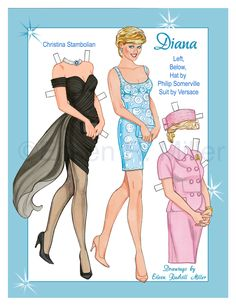 Beautifully drawn original paper dolls. Doll and 12 costumes printed on 5 sheets of 8.5x11 card stock.