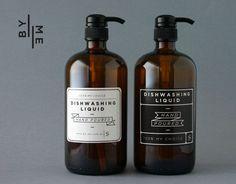 2 x 1 litre Amber Glass Bottle Soap Dispenser Pumps with label decals