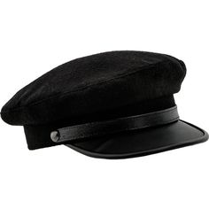 Kashubia type Merchant Fleet Officer Peaked Cap with a Leather Visor. ($53) ❤ liked on Polyvore featuring accessories, hats, peaked cap, sun visor, sun visor cap, leather cap and sun visor hat