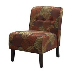 Coco Harvest Fabric Tufted Accent Slipper Chair in Harvest - 36096HAR-01-KD-U