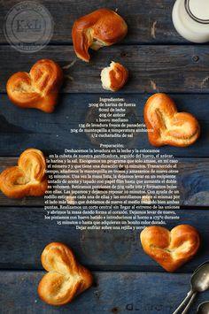 Kanela y Limón: Corazones de pan de leche / San Valentín  -- adorable, just have to translate
