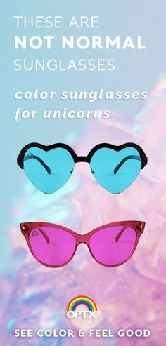 RainbowOPTX are not normal sunglasses. They use 10 different colors to make the world beautiful, instead of black lenses that make everything dark. Heart Shaped Sunglasses, Cat Eye Sunglasses, Mirrored Sunglasses, Festival Camping, Edm Festival, Things To Buy, Things I Want, Outfits For Teens, Cute Outfits