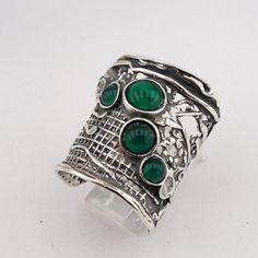 Hadar Jewelry Handcrafted Sterling Silver Green by hadarjewelry