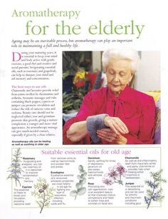 Aromatherapy for the elderly