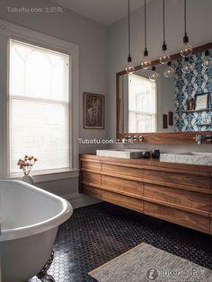 American style interior design bathroom