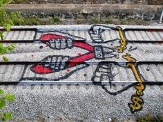 Bordalo II y las vías de tren