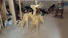 Check out this item in my Etsy shop https://www.etsy.com/listing/257925643/wooden-reindeer-for-the-yard