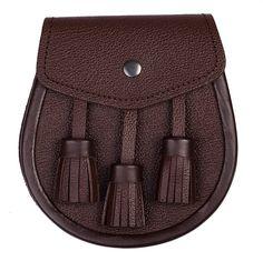 Brown Leather Day Sporran , Sporran   The Scotland Kilt Company