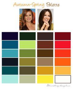 Autumn-Spring, Warm Autumn color palette | #WarmAutumn #ColorPalette #AutumnSpring