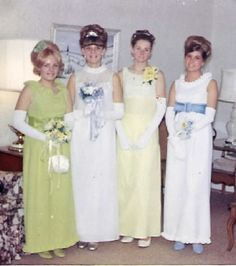 If you were still in High School in 1967, you or your date's prom dress probably looking a lot like one of these!