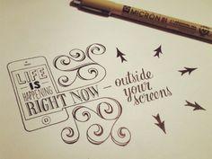 Ví por aí #67 – Citações feitas a mão