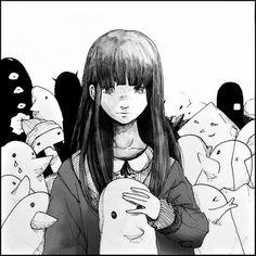Aiko and Punpun's Manga Anime, Manga Boy, Bonne Nuit Punpun, Art Sketches, Art Drawings, Goodnight Punpun, The Flowers Of Evil, Arte Indie, Arte Horror