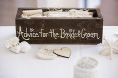 The cute little wooden hearts were such a great idea if you don't want a guest book! They had a cute little treasure box for the hearts to be slotted into!