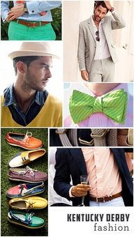 mens kentucky derby fashion bits and pieces!