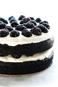pastel de terciopelo Negro
