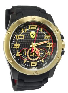 18da95e5585 Scuderia Ferrari - Mens Black Rubber  SF104  Watch - 0830089 Online price   £325.00 www.lingraywatches.co.uk