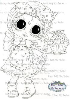 Faça o Download Digital Digi selos Olho grande cabeça grande Dolls Img095 Bestie por Sherri Baldy