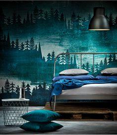 Modernes Design in deinem Schlafzimmer - KOPARDAL Bettgestell und KVISTBRO Aufbewahrungstisch. Ikea Room Ideas, Bedroom Ideas, Good Color Combinations, Guest Rooms, Hygge, Future House, Master Bedroom, Bedrooms, House Ideas