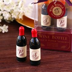 Wine Bottle Salt and Pepper Shakers