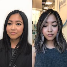 6 Things you need to know about Balayage Highlights – Stylish Hairstyles Ash Blonde Hair Balayage, Hair Streaks, Dark Hair With Highlights, Ombre Hair, Black Hair With Blonde Highlights, Asian Balayage, Black And Grey Hair, White Streak In Hair, Face Frame Highlights