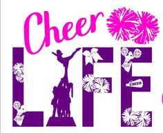 Football Cheer, Cheer Camp, Cheerleading Tattoos, Cheerleading Stunting, Cheers Theme, Cheer Qoutes, Cheer Mom Shirts, Bedroom Crafts, Silhouette Projects