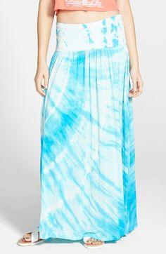 Billabong 'Heart of Mine' Print Maxi Skirt viscosefiji blue/white 36L szS 44.95